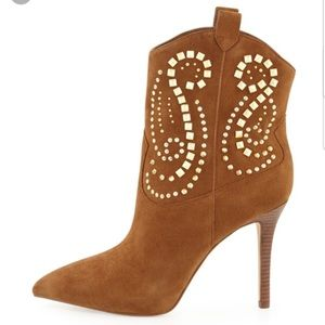 Michael Kors Reena Suede Studded heeled boots